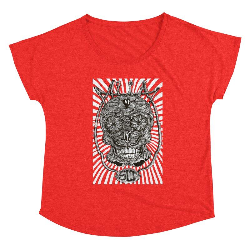 Skull MuM Classic  Women's Scoop Neck by miskel's Shop