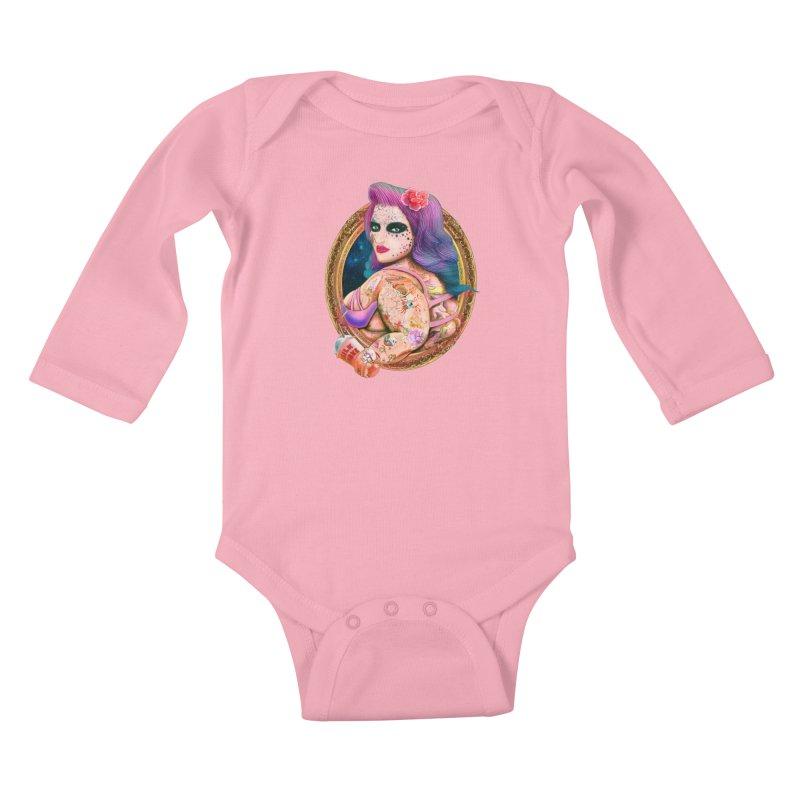 Milkshake! Kids Baby Longsleeve Bodysuit by miskel's Shop