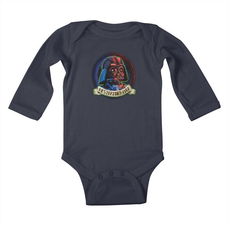Best Father Ever Kids Baby Longsleeve Bodysuit by miskel's Shop