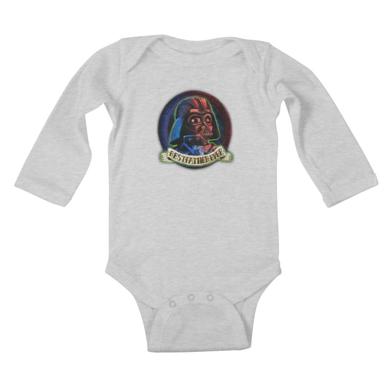 Best Father Ever Kids Baby Longsleeve Bodysuit by miskel's Shop