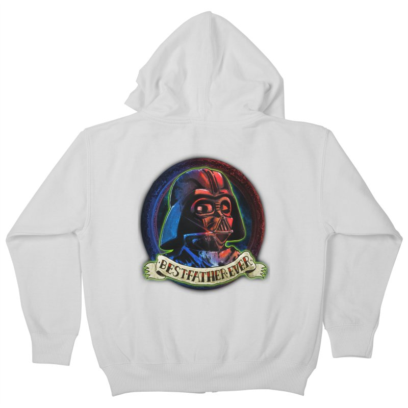 Best Father Ever Kids Zip-Up Hoody by miskel's Shop