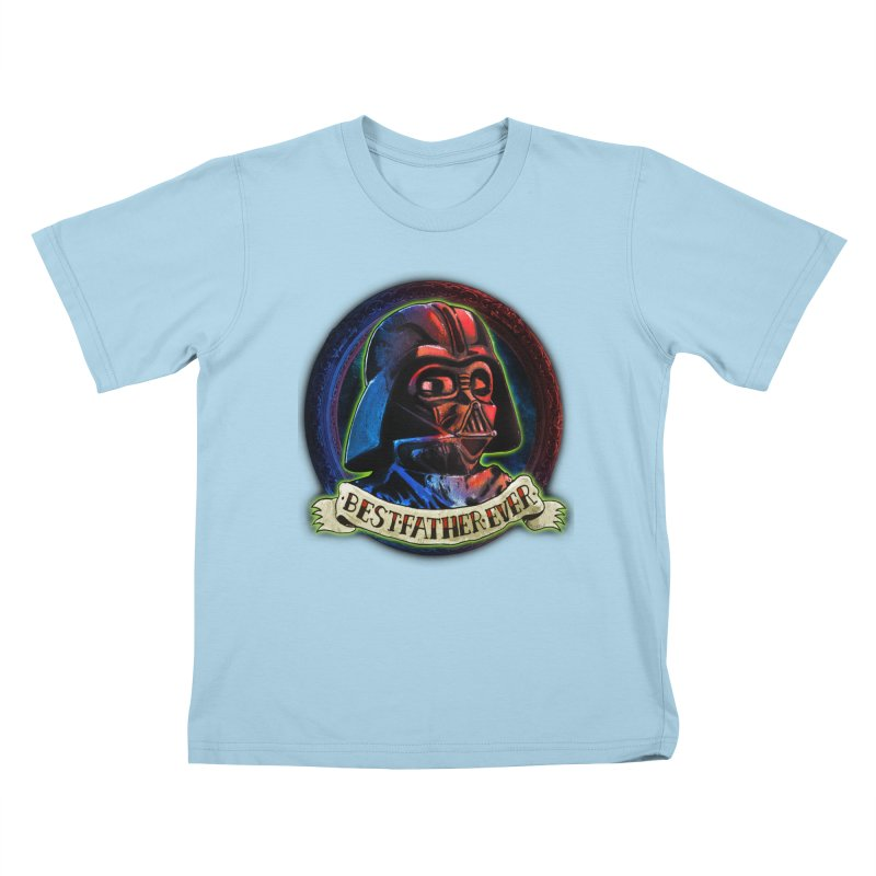 Best Father Ever Kids T-shirt by miskel's Shop