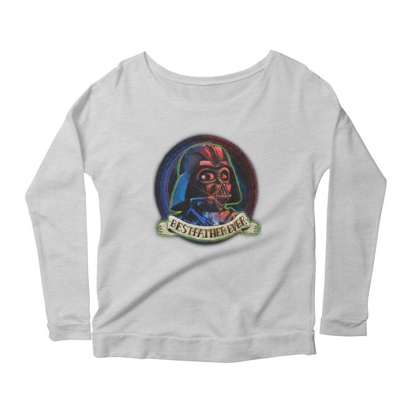 Best Father Ever Women's Scoop Neck Longsleeve T-Shirt by miskel's Shop