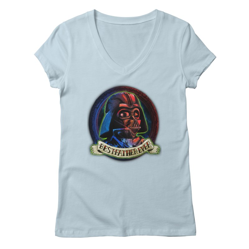 Best Father Ever Women's V-Neck by miskel's Shop
