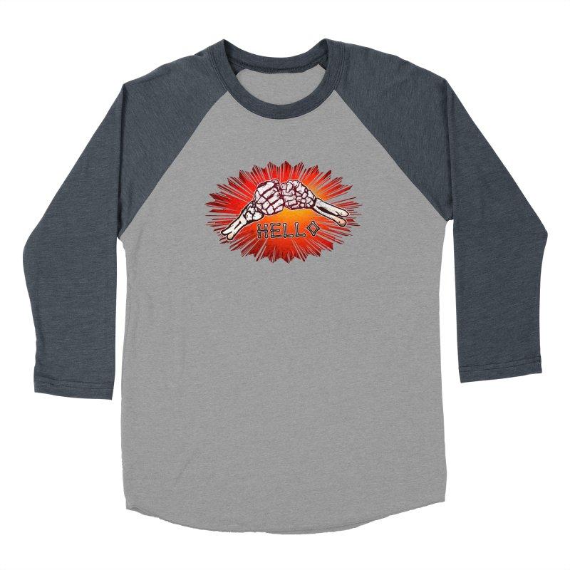 Hell O Women's Baseball Triblend Longsleeve T-Shirt by miskel's Shop