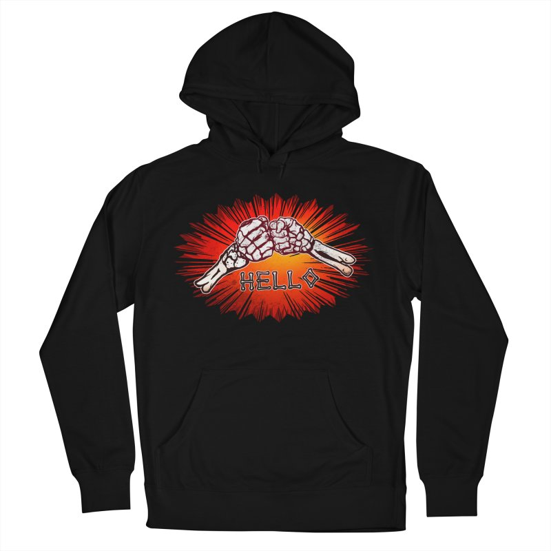 Hell O Men's French Terry Pullover Hoody by miskel's Shop