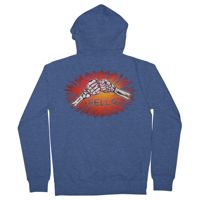 Hell O Men's French Terry Zip-Up Hoody by miskel's Shop
