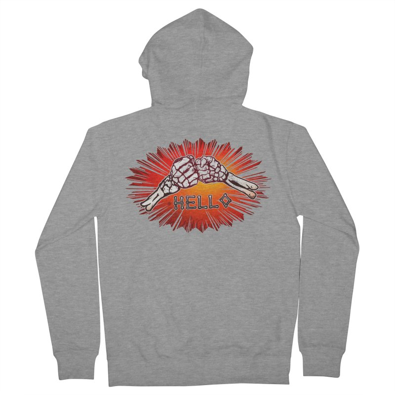 Hell O Men's Zip-Up Hoody by miskel's Shop