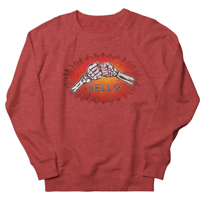 Hell O Men's French Terry Sweatshirt by miskel's Shop
