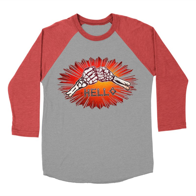 Hell O Men's Baseball Triblend Longsleeve T-Shirt by miskel's Shop