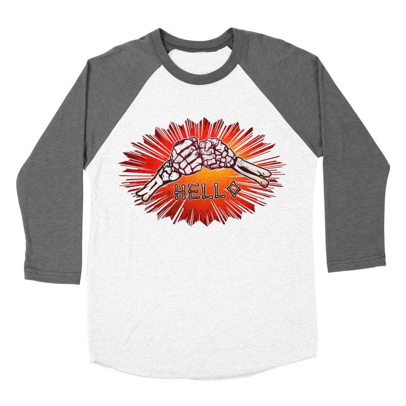 Hell O Men's Baseball Triblend Longsleeve T-Shirt by miskel's Shop