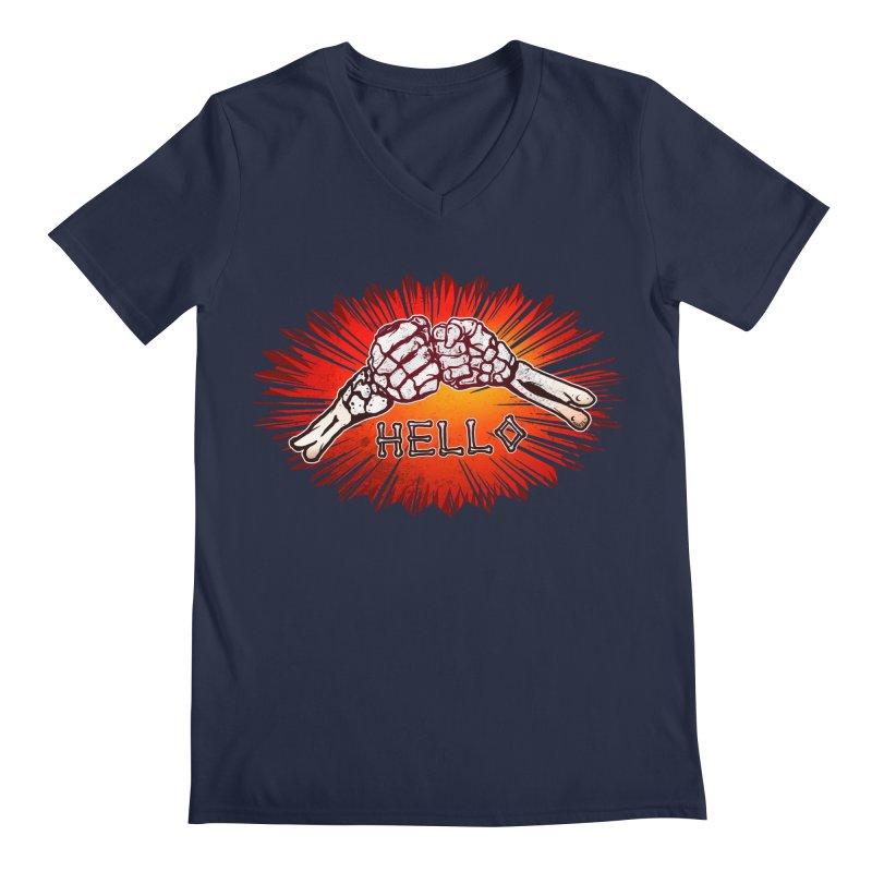 Hell O Men's V-Neck by miskel's Shop