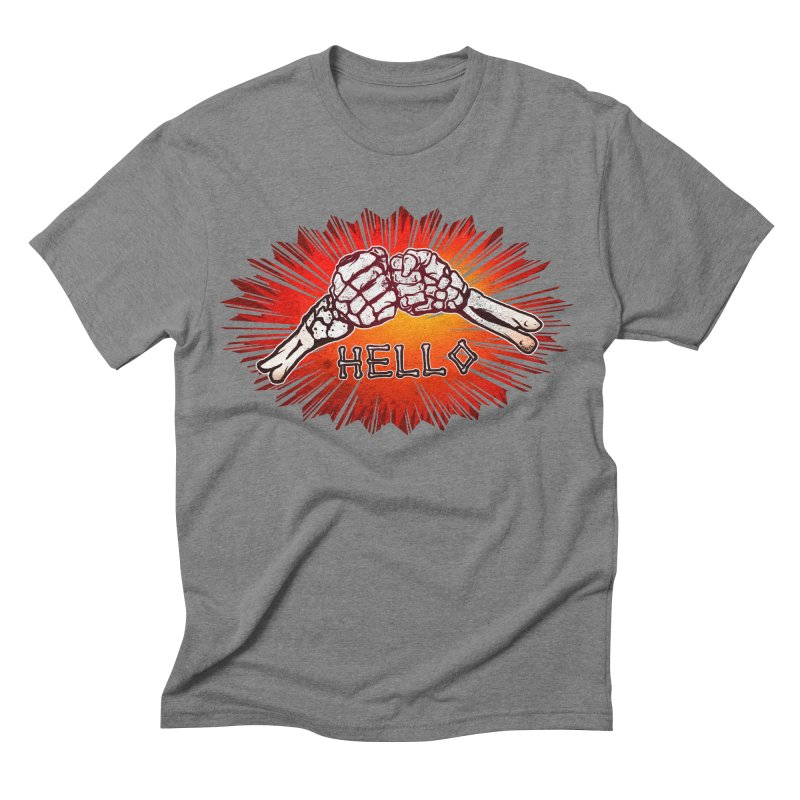 Hell O Men's Triblend T-shirt by miskel's Shop