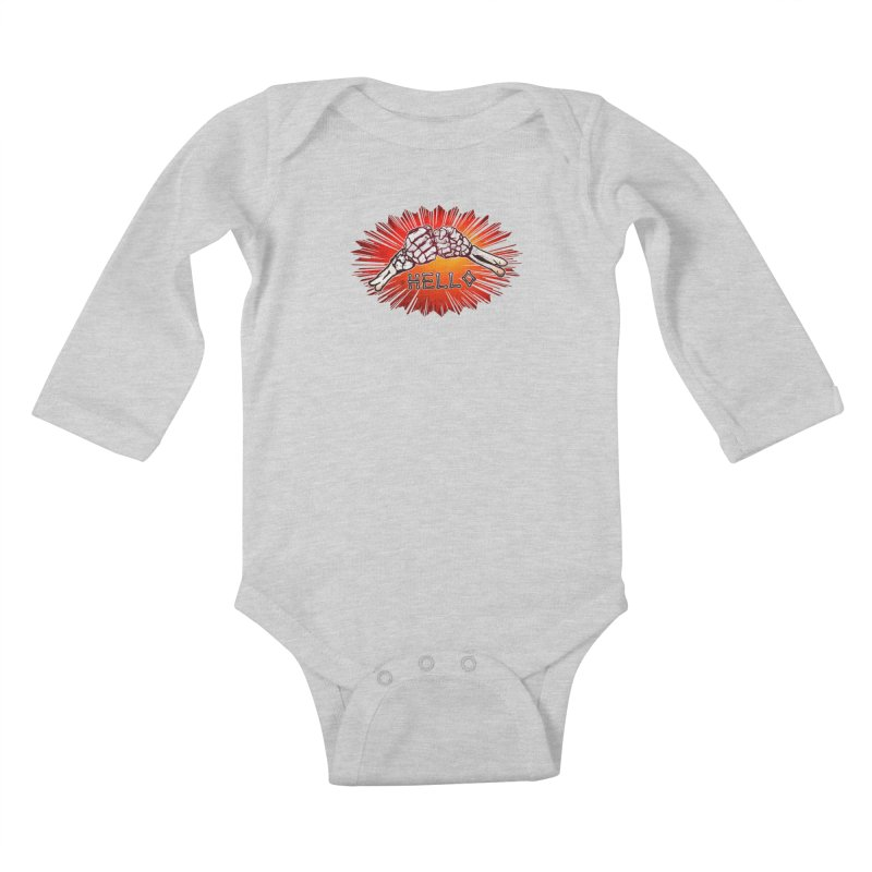 Hell O Kids Baby Longsleeve Bodysuit by miskel's Shop