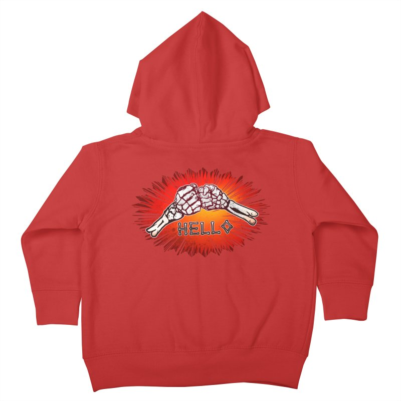 Hell O Kids Toddler Zip-Up Hoody by miskel's Shop