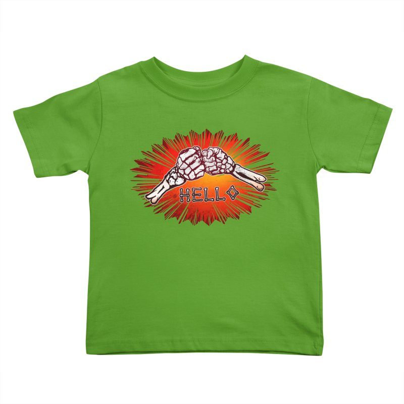 Hell O Kids Toddler T-Shirt by miskel's Shop