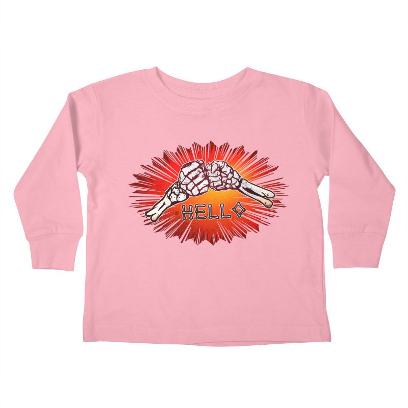 Hell O Kids Toddler Longsleeve T-Shirt by miskel's Shop