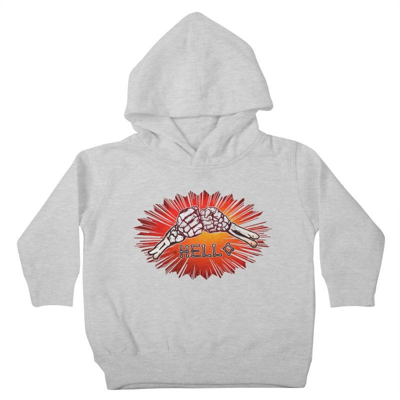 Hell O Kids Toddler Pullover Hoody by miskel's Shop