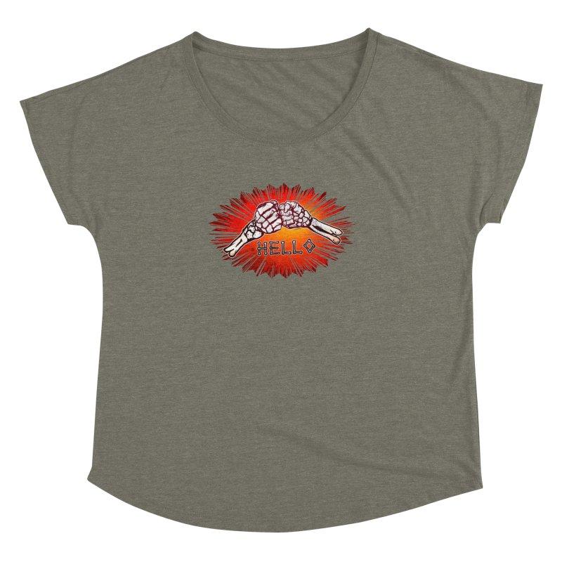 Hell O Women's Scoop Neck by miskel's Shop
