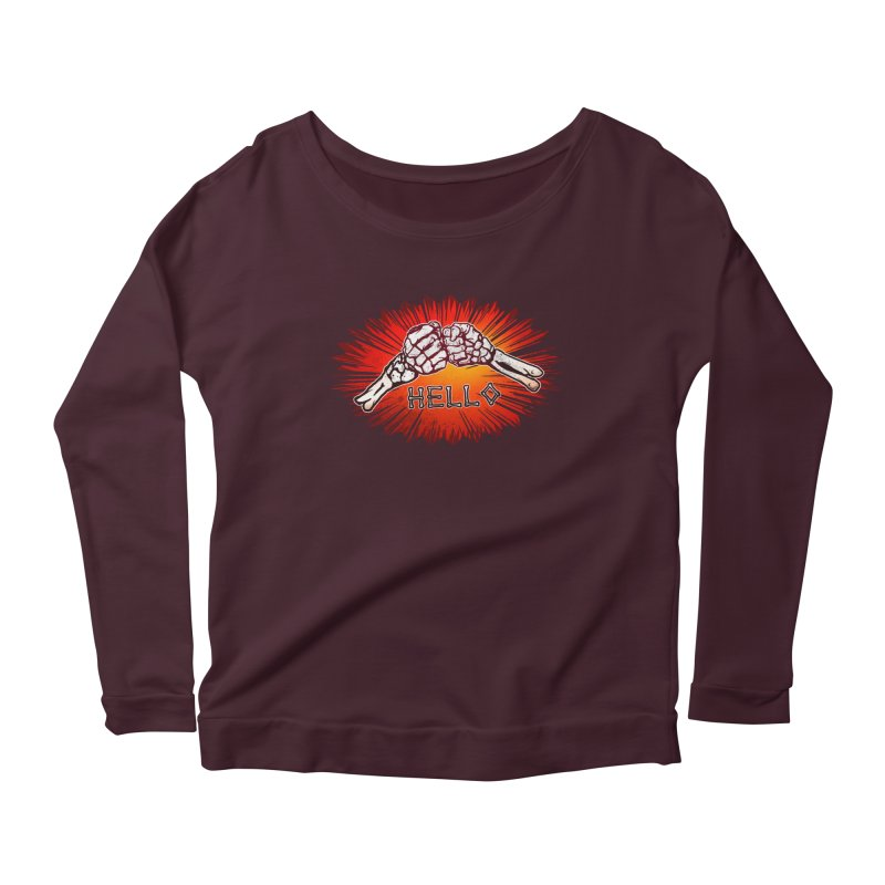 Hell O Women's Longsleeve Scoopneck  by miskel's Shop