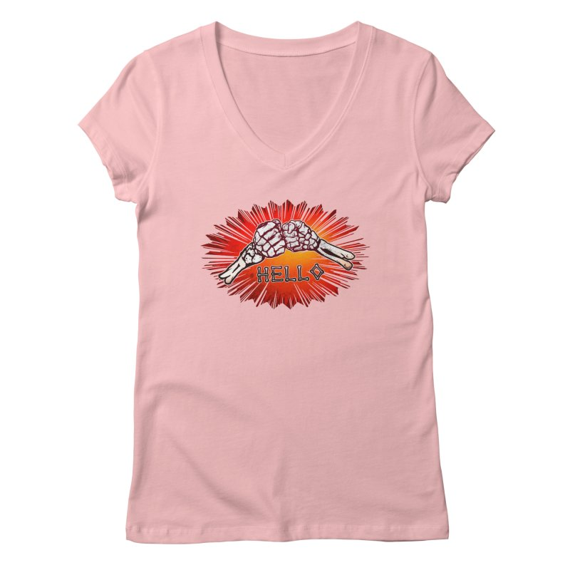 Hell O Women's V-Neck by miskel's Shop