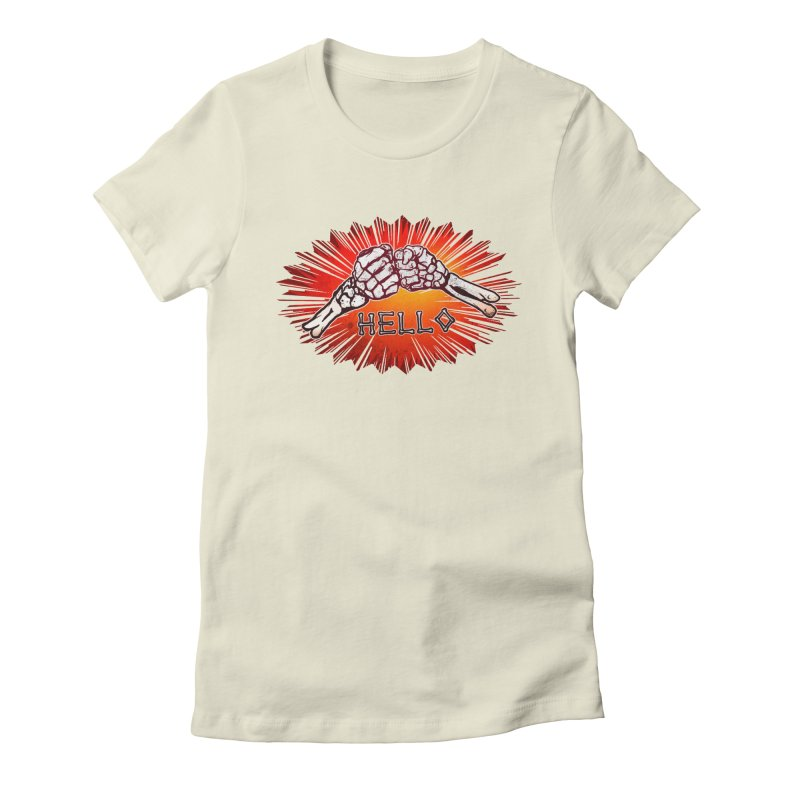 Hell O Women's Fitted T-Shirt by miskel's Shop