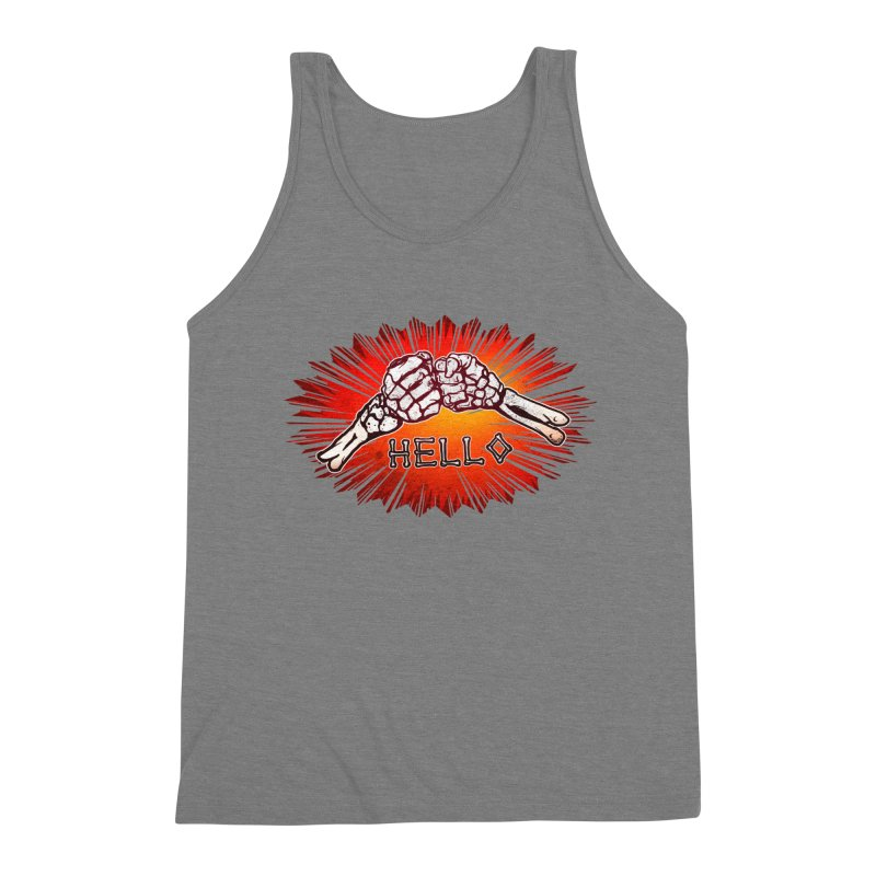 Hell O Men's Triblend Tank by miskel's Shop