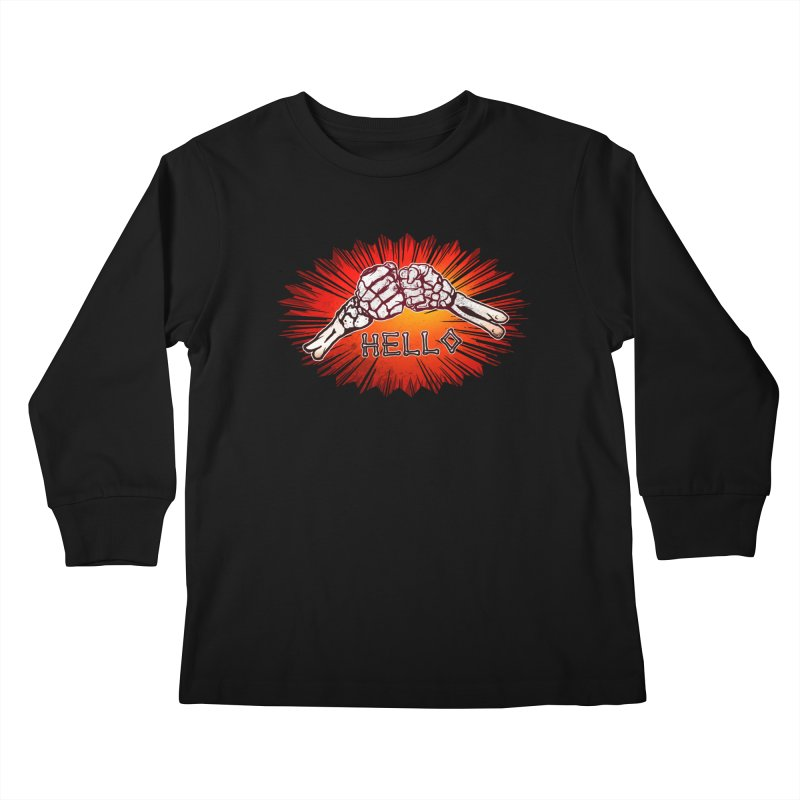 Hell O Kids Longsleeve T-Shirt by miskel's Shop