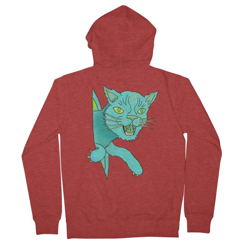 MeoW Women's French Terry Zip-Up Hoody by miskel's Shop