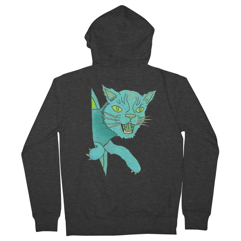 MeoW Men's French Terry Zip-Up Hoody by miskel's Shop