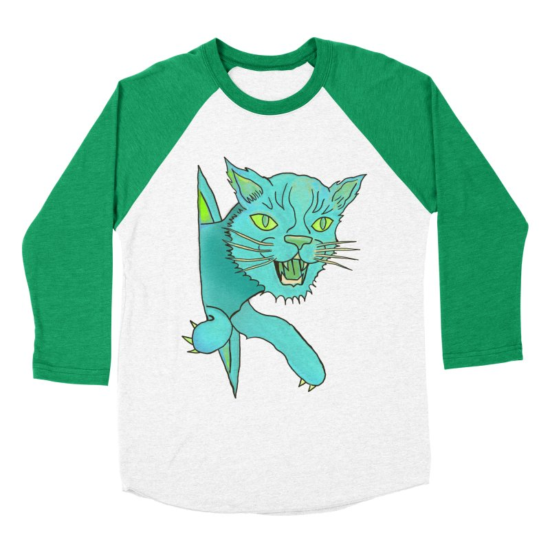 MeoW Women's Baseball Triblend Longsleeve T-Shirt by miskel's Shop