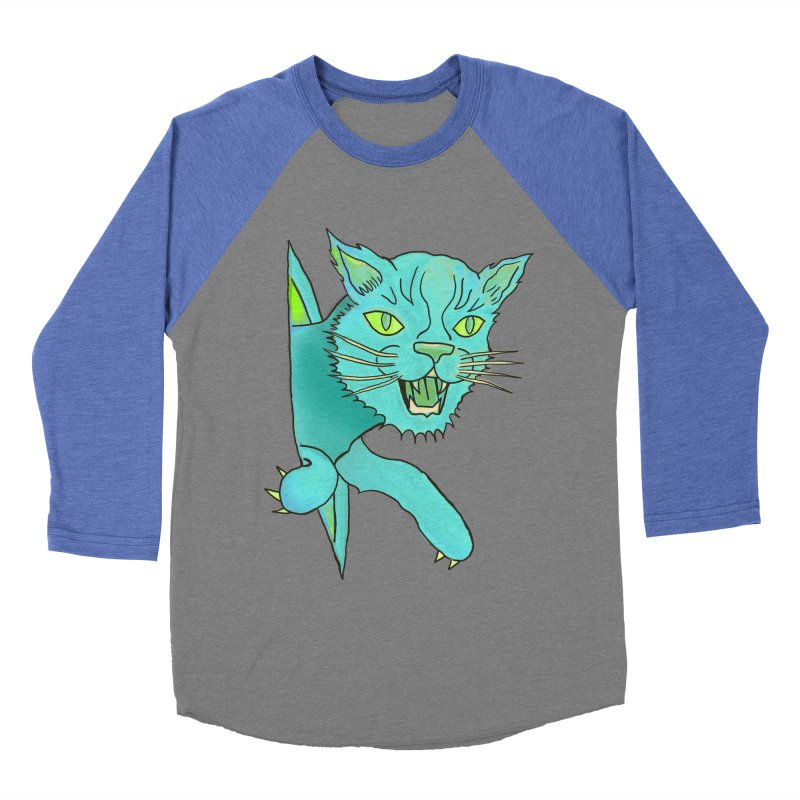 MeoW Women's Baseball Triblend T-Shirt by miskel's Shop