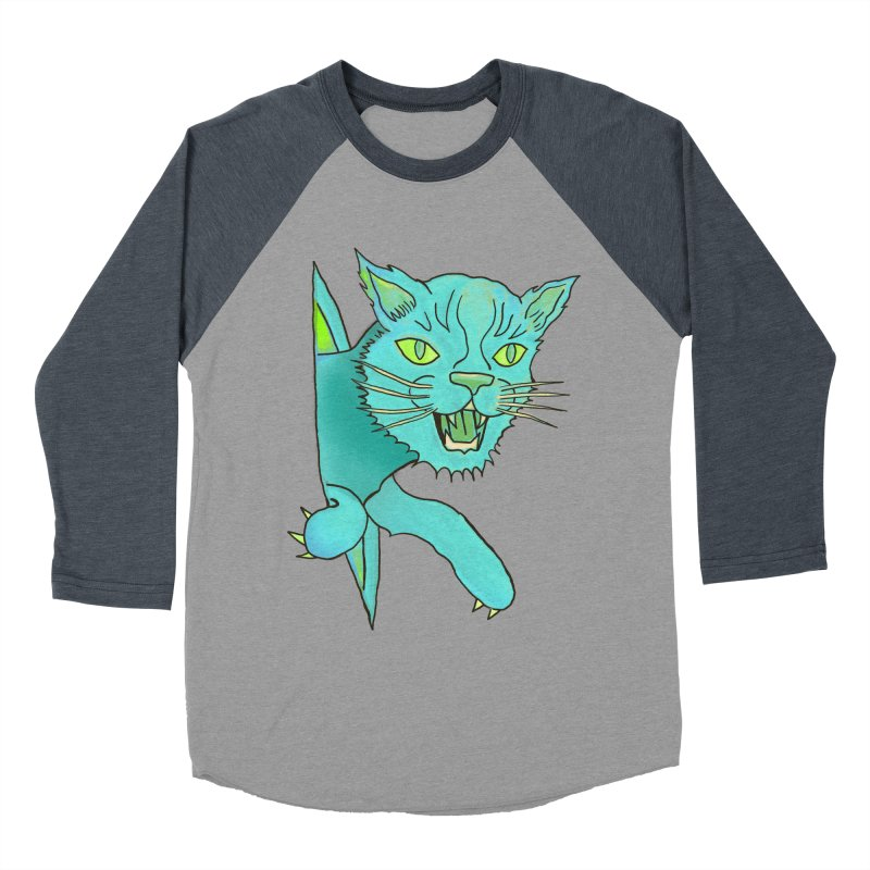 MeoW Men's Baseball Triblend Longsleeve T-Shirt by miskel's Shop