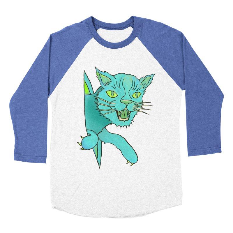 MeoW Men's Baseball Triblend Longsleeve T-Shirt by miskel's Shop