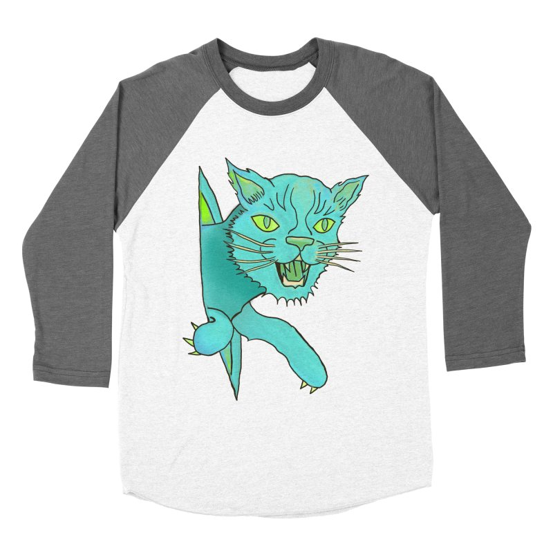 MeoW Men's Baseball Triblend T-Shirt by miskel's Shop