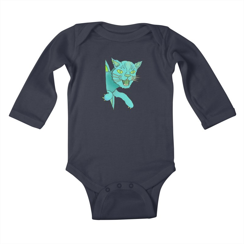 MeoW Kids Baby Longsleeve Bodysuit by miskel's Shop