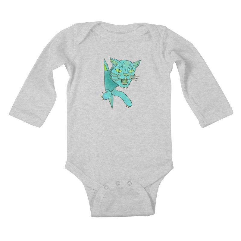 MeoW Kids Baby Longsleeve Bodysuit by miskel's Shop