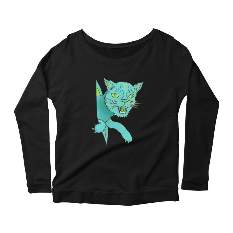 MeoW Women's Scoop Neck Longsleeve T-Shirt by miskel's Shop