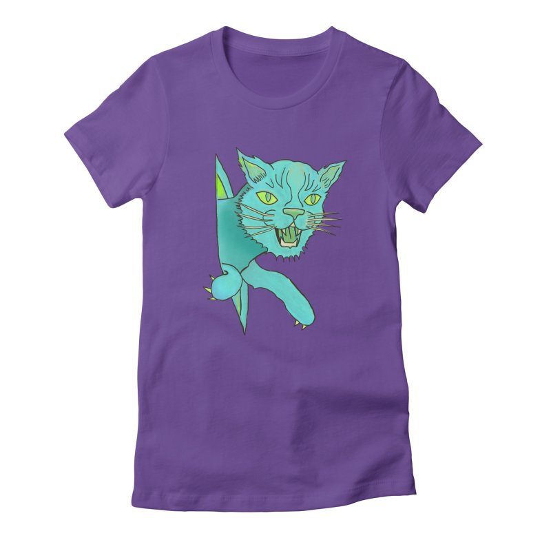 MeoW Women's Fitted T-Shirt by miskel's Shop