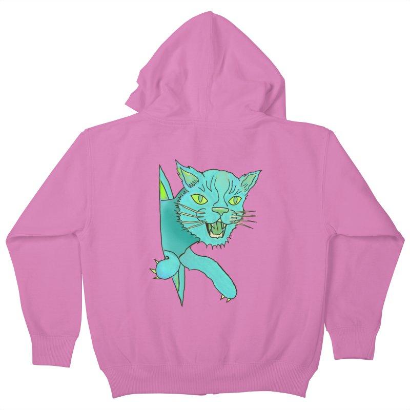 MeoW Kids Zip-Up Hoody by miskel's Shop
