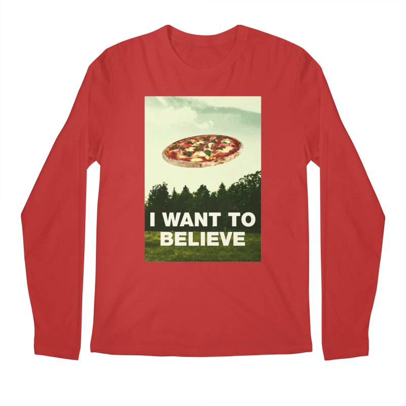 I WANT TO BELIEVE Men's Longsleeve T-Shirt by miskel's Shop