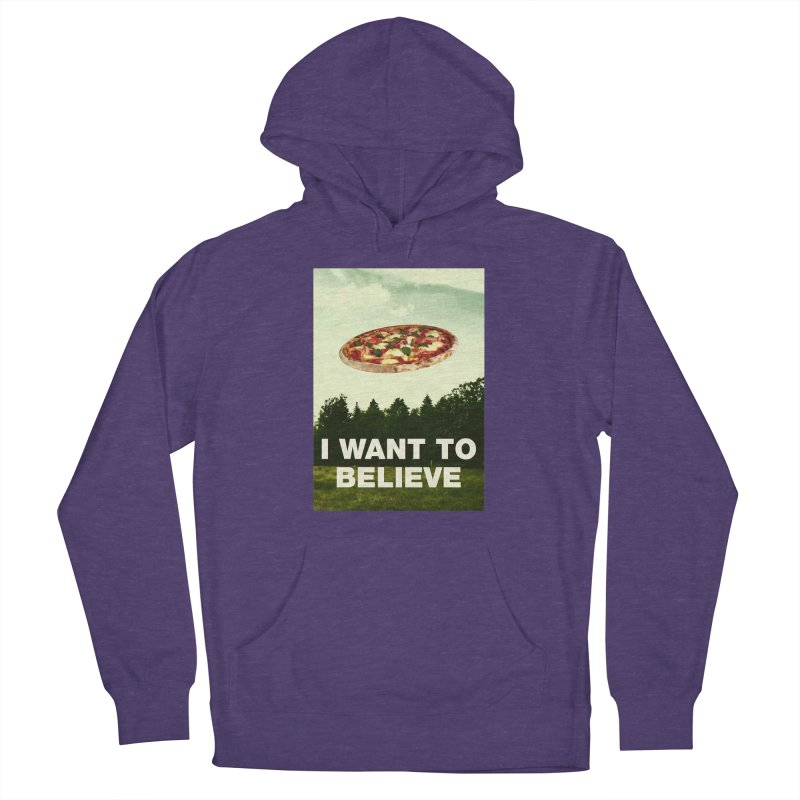 I WANT TO BELIEVE Women's French Terry Pullover Hoody by miskel's Shop