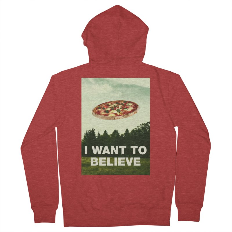I WANT TO BELIEVE Women's French Terry Zip-Up Hoody by miskel's Shop