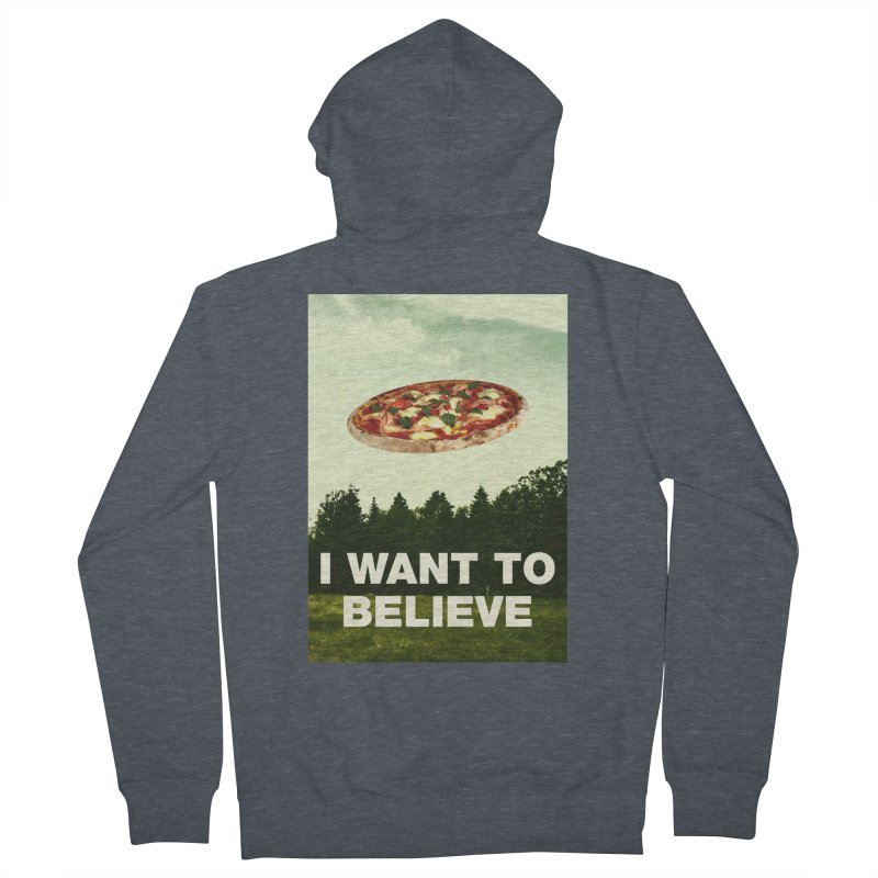 I WANT TO BELIEVE Men's French Terry Zip-Up Hoody by miskel's Shop