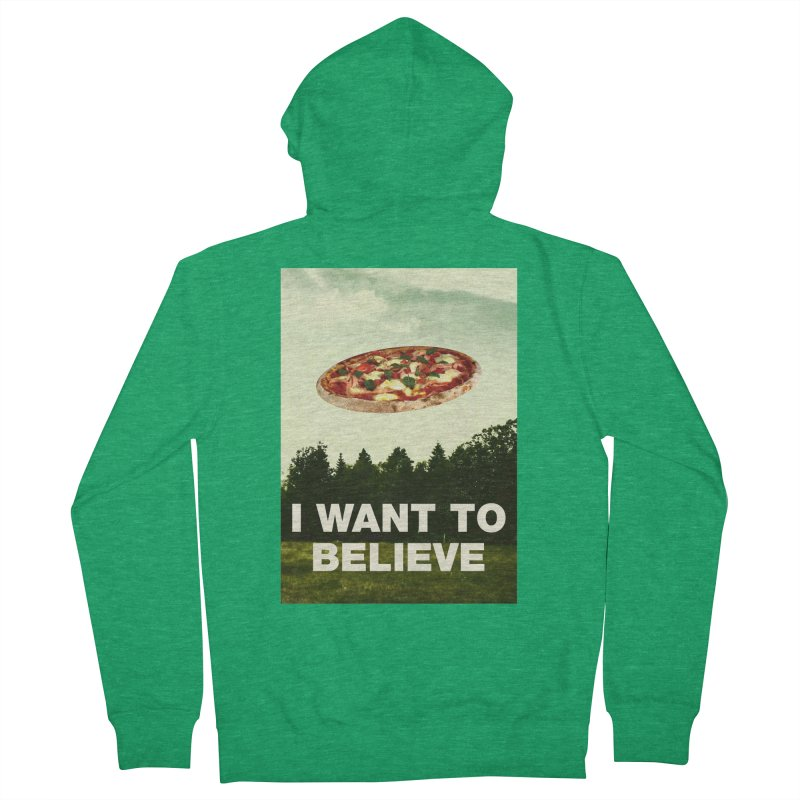 I WANT TO BELIEVE Men's Zip-Up Hoody by miskel's Shop