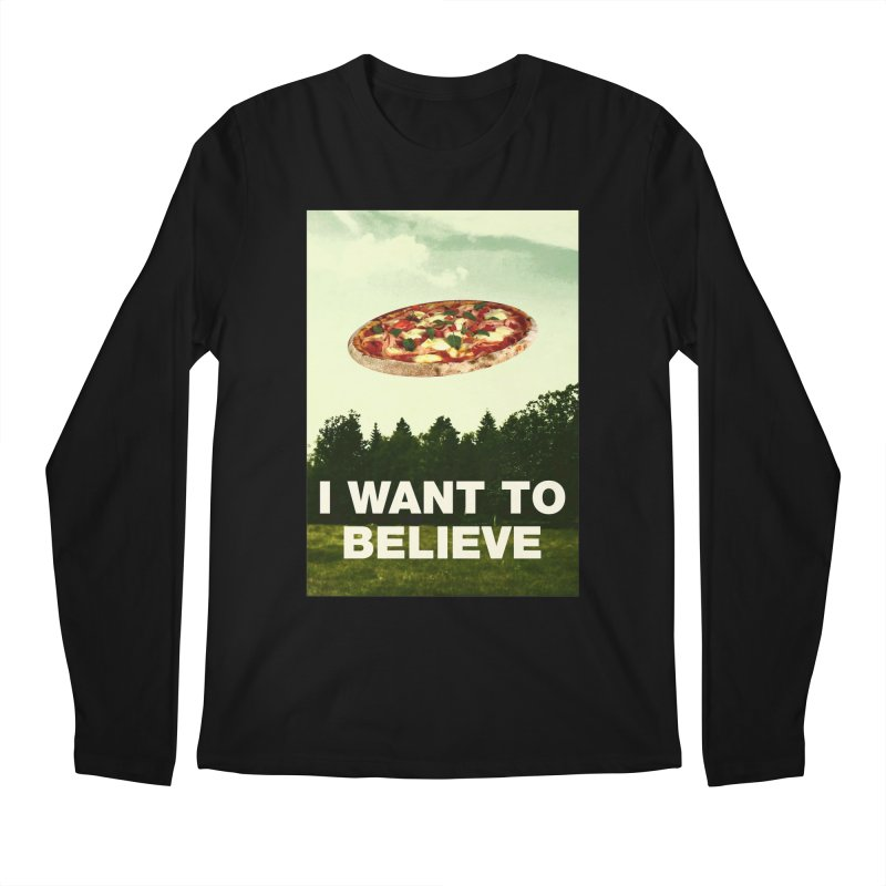 I WANT TO BELIEVE Men's Longsleeve T-Shirt by miskel's Shop