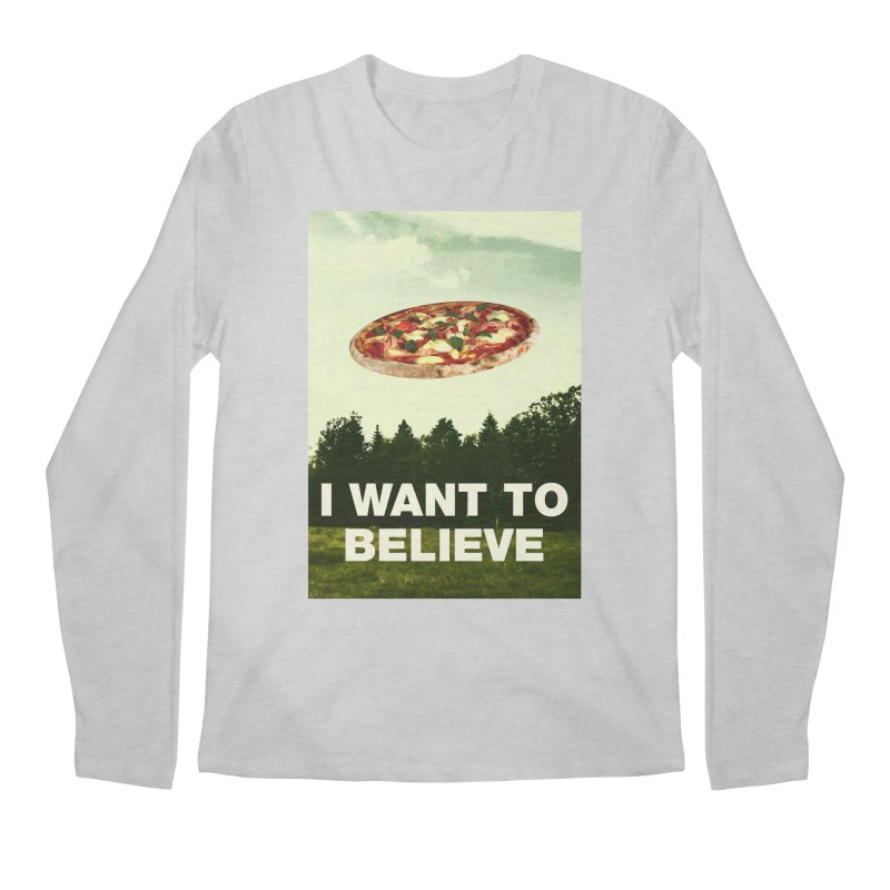 I WANT TO BELIEVE Men's Regular Longsleeve T-Shirt by miskel's Shop