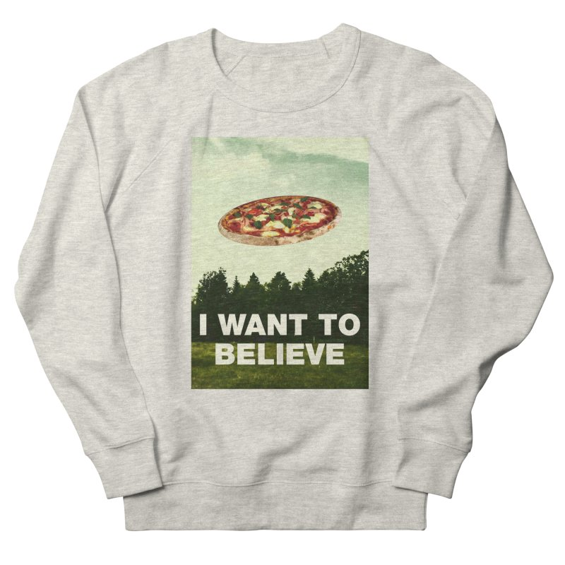I WANT TO BELIEVE Women's French Terry Sweatshirt by miskel's Shop