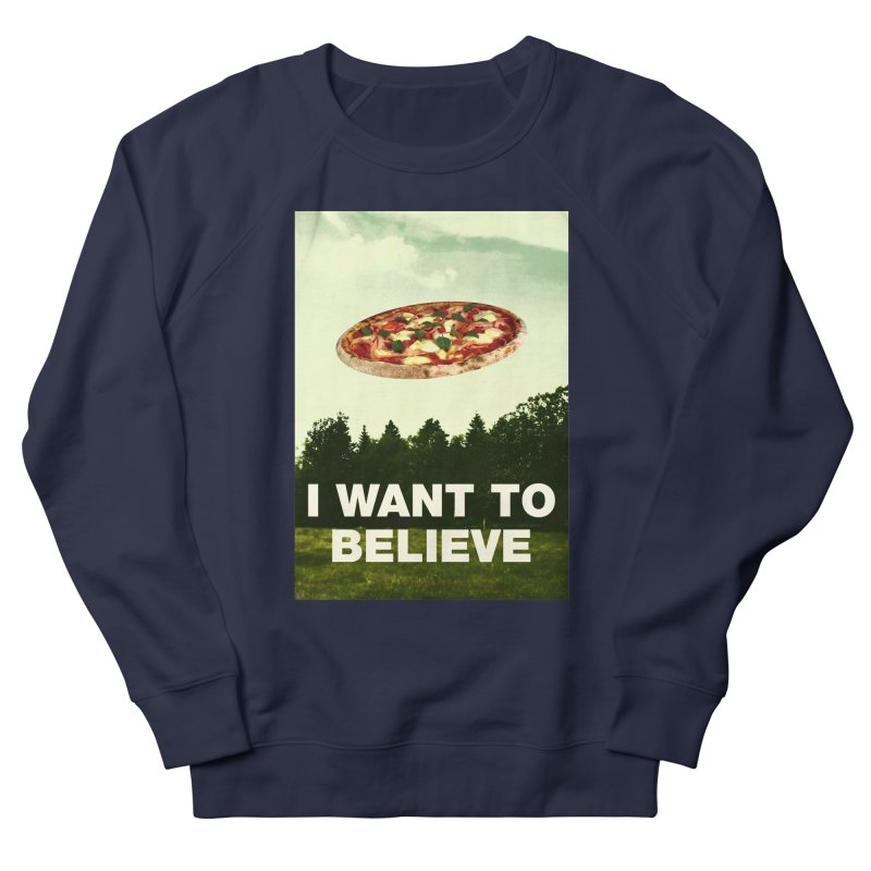I WANT TO BELIEVE Men's French Terry Sweatshirt by miskel's Shop