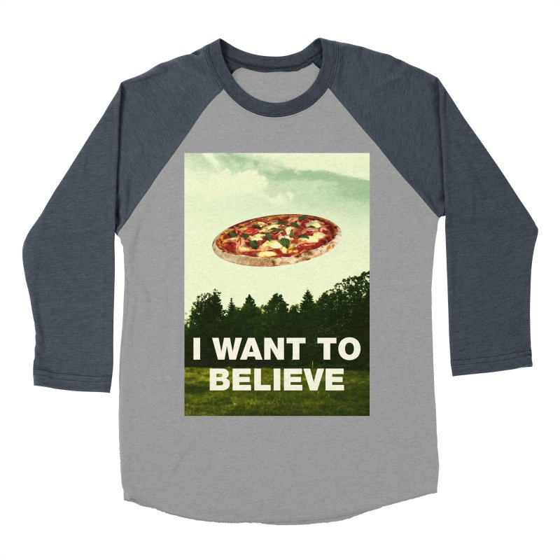 I WANT TO BELIEVE Men's Baseball Triblend Longsleeve T-Shirt by miskel's Shop